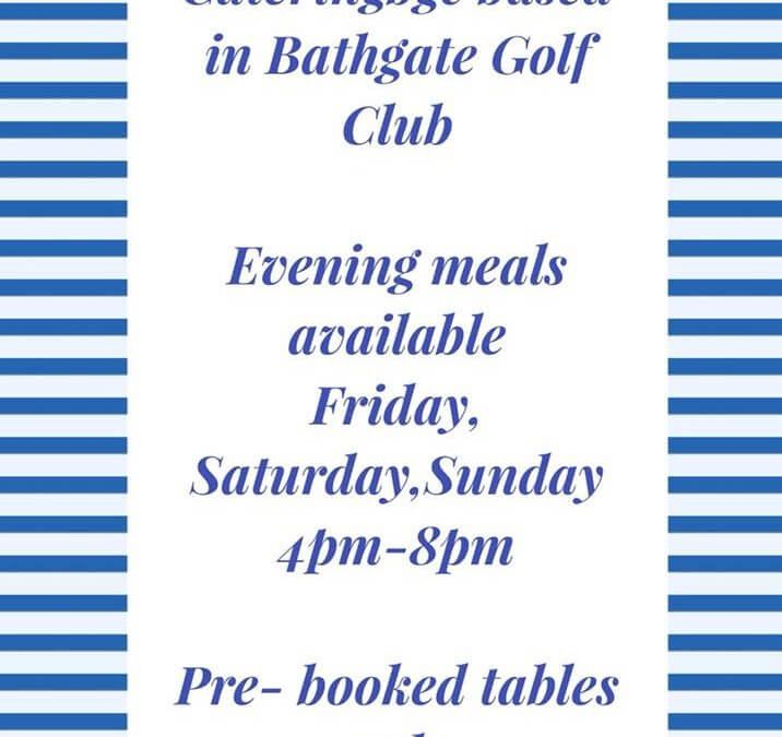 Evening meals must be pre booked. 27th Sept
