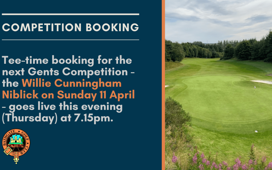 Tee-Time Booking for Competitions