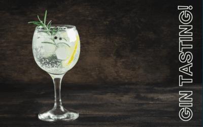 Enjoy our Gin Tasting Night – Friday 22 October